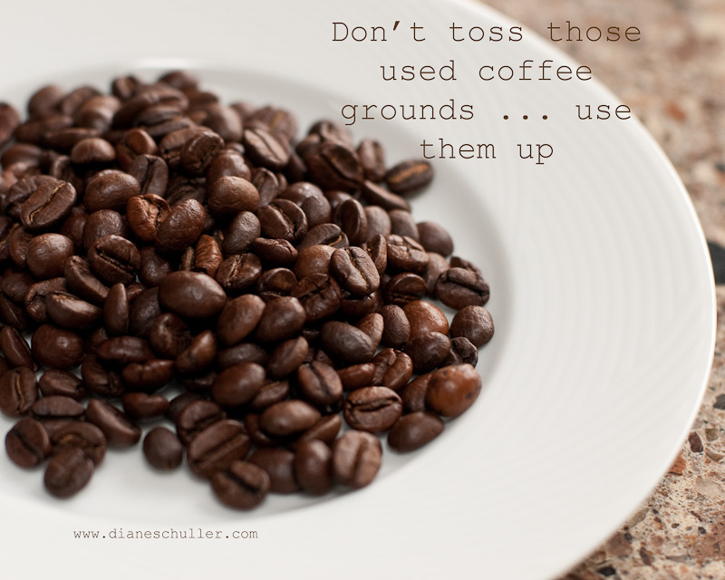 be sustainable: how to use your coffee & tea grounds