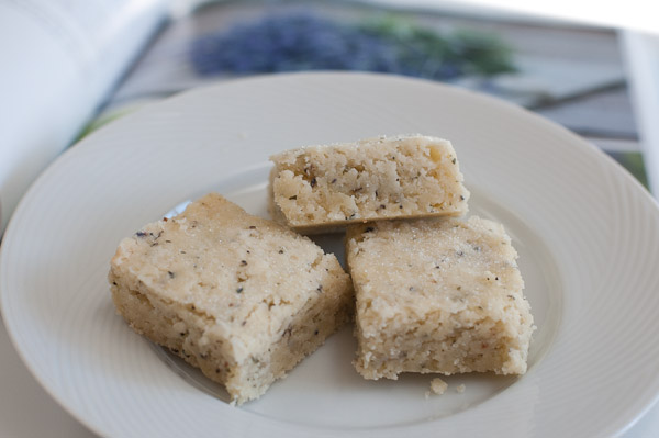 Lavender shortbread from Sea Salt cookbook