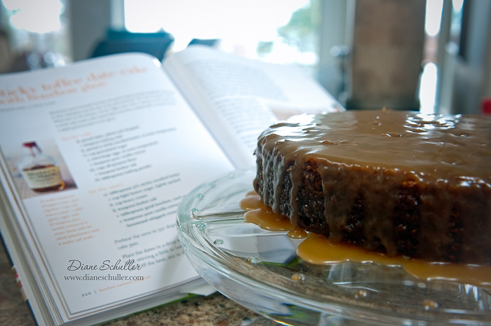 sticky toffee date cake at www.dianeschuller.com