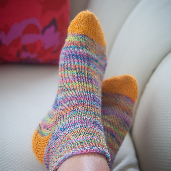 2nd pair of hand knit socks || www.dianeschuller.com