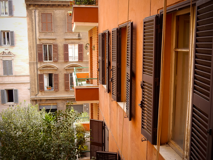 view from our hotel in Rome