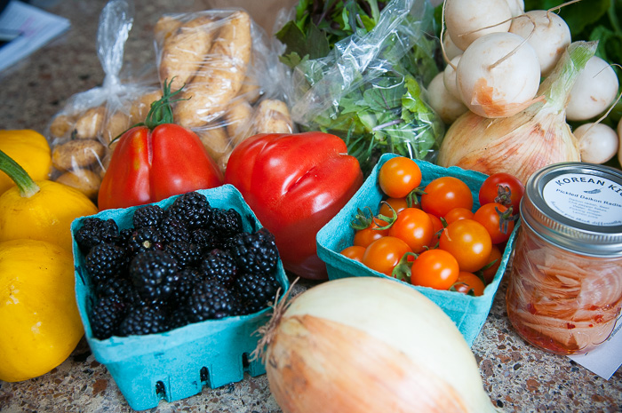 fresh food from Qualicum Beach Farmer